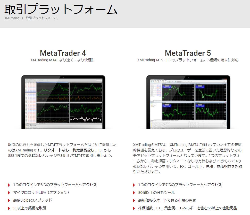 MT4のダウンロード画面
