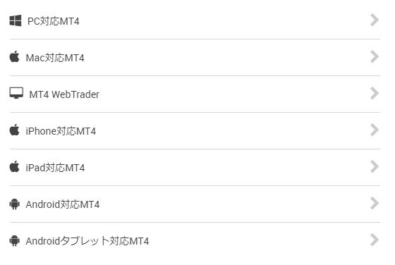 XMのホームページ