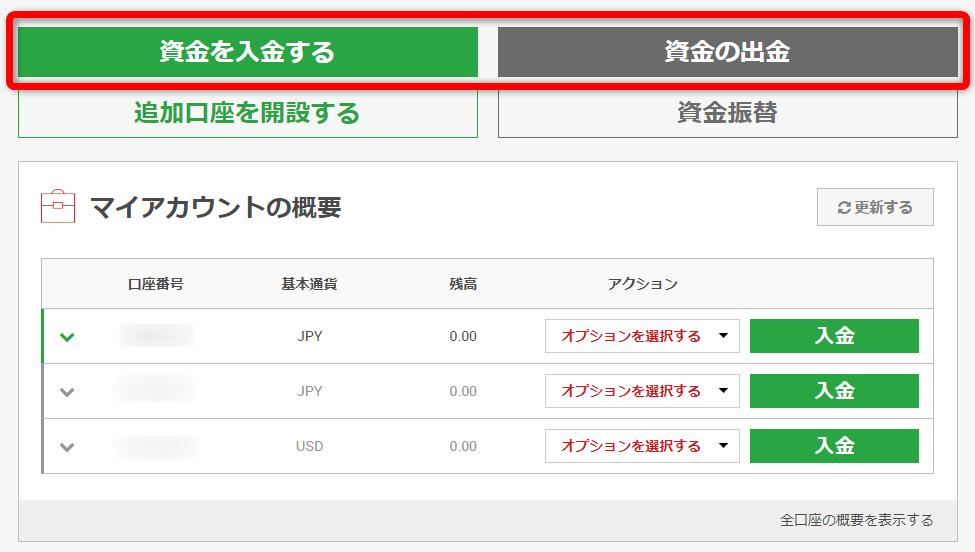XMのマイページ
