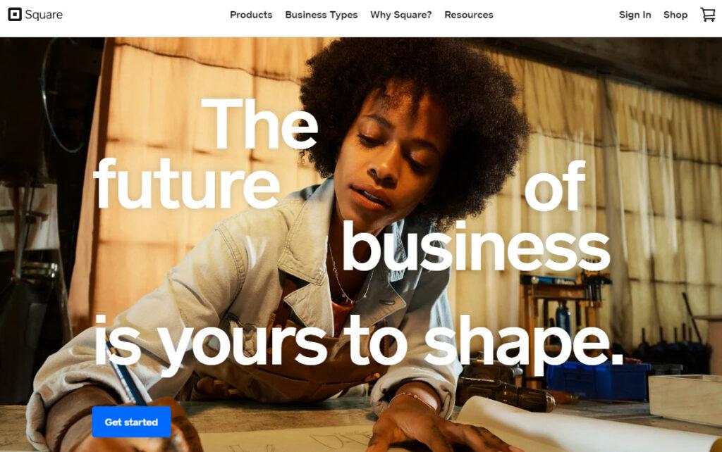 Squareのホームページ