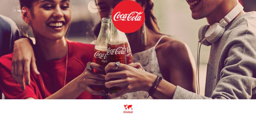 コカコーラのホームページ