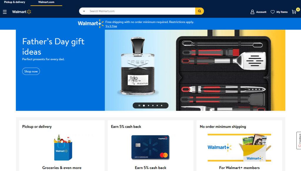 ウォルマートのホームページ